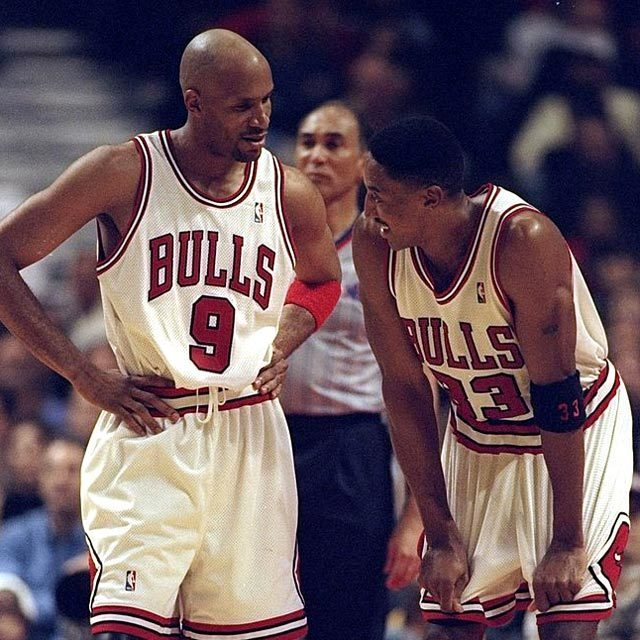 NBA Chicago Bulls #9 Ron Harper with #33 Scottie Pippen