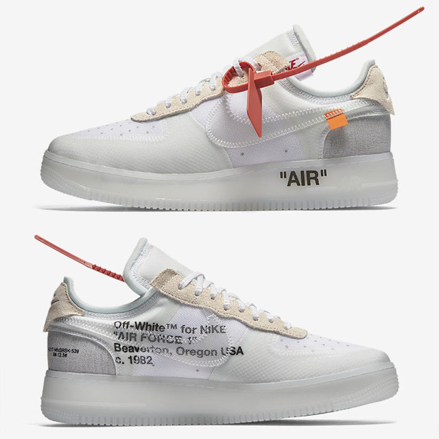 NIKE THE TEN AIR FORCE 1 AO4606-100 OFF WHITE