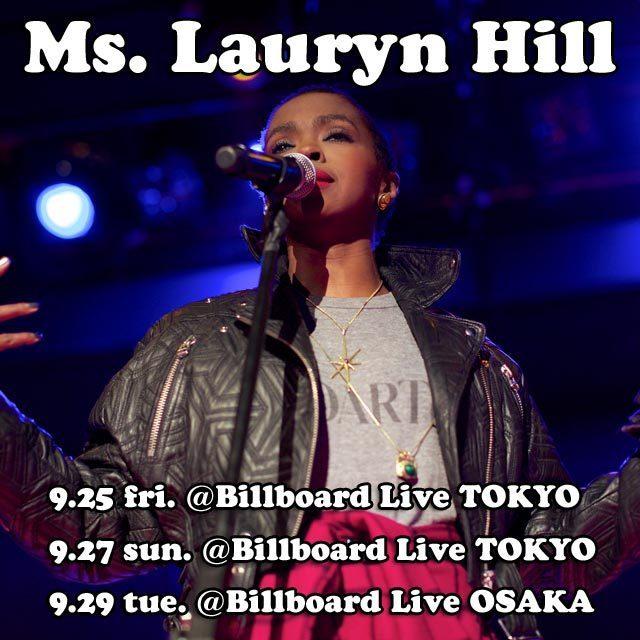 Ms. Lauryn Hill Billboard Live Tokyo Osaka Japan