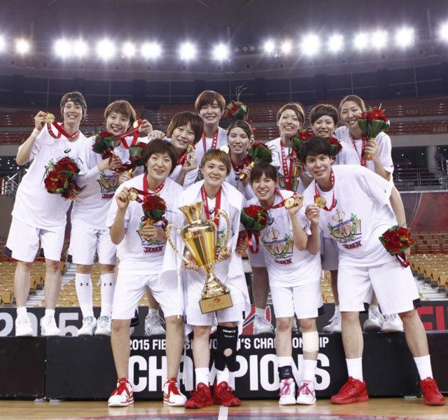 Japan (JPN) - Winners of the 2015 FIBA Asia Women's Championship. Japan v China, 2015 FIBA Asia Women's Championship, Wuhan (People's Republic of China), Final, 5 September 2015