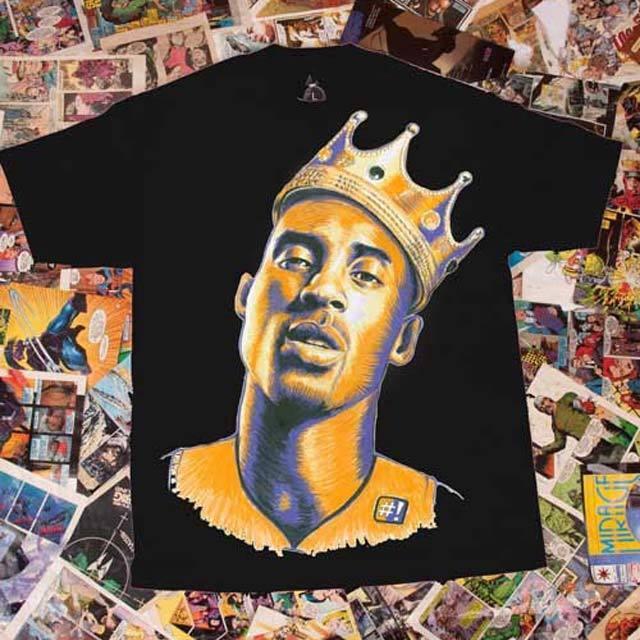 Los Angeles Lakers KOBE BRYANT Only Kings Have Rings Tee