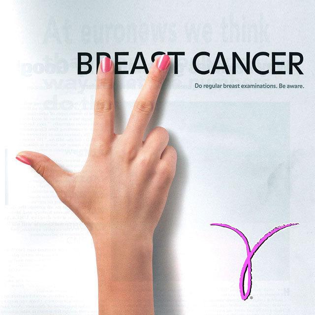 BREAST CANCER Do regular breast examinations. Be aware. Pink Ribbon Kay Yow