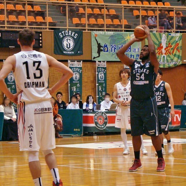 PRO BASKETBALL TEAM NISHINOMIYA STORKS 54 Davante Gardner