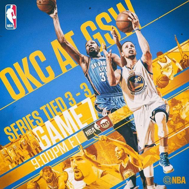 nba oklahoma city thunder vs golden state warriors game7