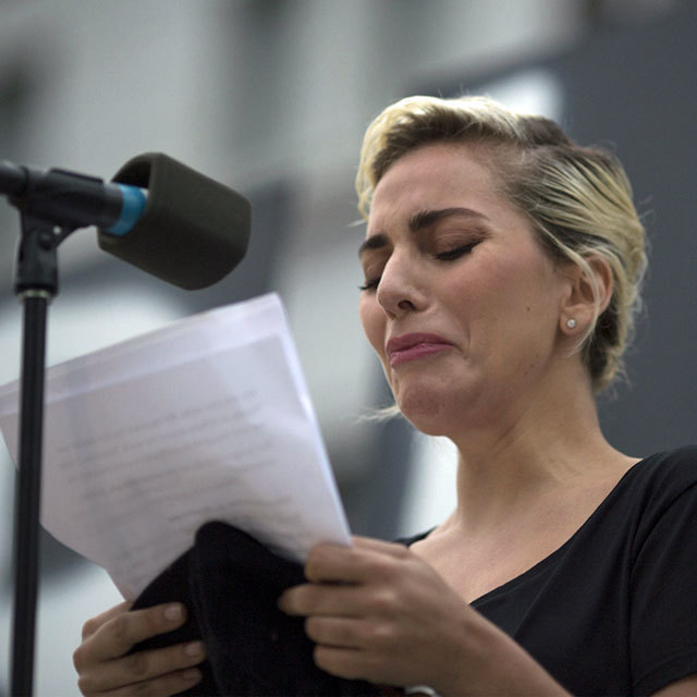 Lady Gaga Gives Emotional Speech at L.A. Vigil for Orlando Shooting Victims: 'This Is an Attack on Humanity Itself'