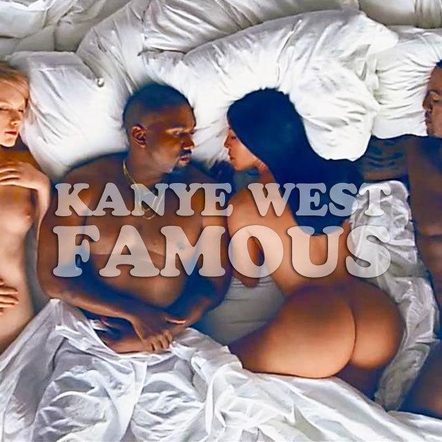 テイラー・スウィフトからドナルド・トランプまで、 そっくりさんや人形を使って全裸でベッドに横たわる姿を映し出し、物議を醸した カニエ・ウェストの「Famous」のミュージック・ビデオがYouTubeに全編公開された。10分以上もあるこのビデオには、以下の有名人がいる設定となっている。 左から、ジョージ・ブッシュ元大統領、アナ・ウィンター『ヴォーグ』編集長、ドナルド・トランプ共和党大統領候補、リアーナ、クリス・ブラウン(リアーナの元カレでシンガー)、テイラー・スウィフト、カニエ・ウェスト本人とカニエの妻であるキム・カーダシアン、レイ・ジェイ(シンガーでキムの元恋人 キムとのSEX TAPEが流出)、アンバー・ローズ(カニエの元彼女でモデル)、ケイトリン・ジェンナー(陸上十種競技金メダリストでトランスジェンダーを公表 ブルース・ジェンナーから改名 キムの義理の父)、コメディアンのビル・コスビー。