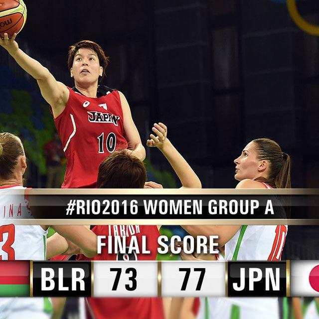 8月6日(日本時間7日)、ユース・アリーナで行なわれたリオデジャネイロ・オリンピック女子バスケットボール、グループAのベラルーシ代表対日本代表の一戦は、6本の3ポイントシュートを沈めた栗原三佳がゲームハイの20得点を叩き出し、日本が77-73で勝利した。