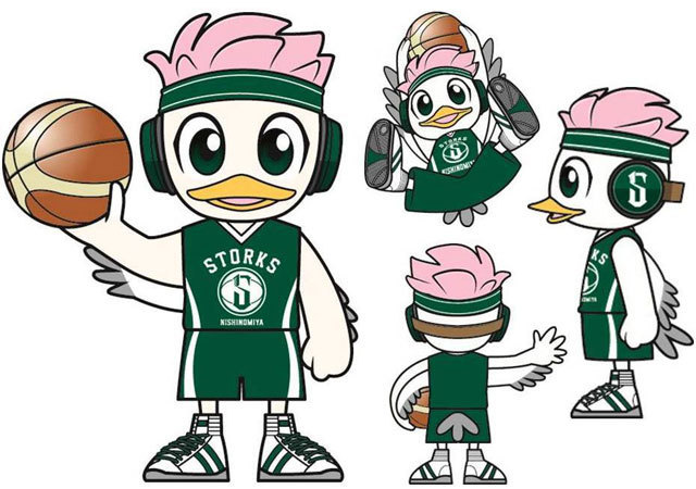 Bリーグ 西宮ストークス B.League Nishinomiya Storks Mascot