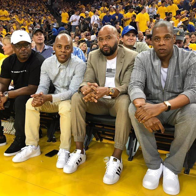The Roc is in the building! #NBAFinals