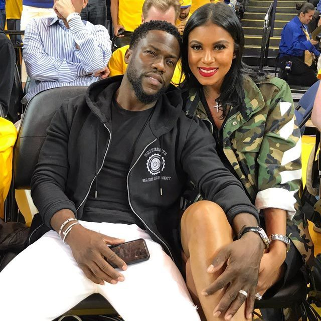 ❤️ @KevinHart4real & @enikonhart courtside for Game 1 of the #NBAFinals