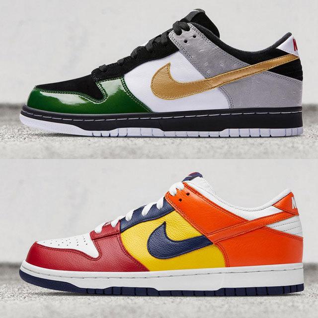 "・Nike Dunk Low JP ""mita"" – July 8 at mita sneakers, Nike Harajuku and NikeLab MA5 ・Nike Dunk Low JP ""What The"" – July 22 at select retailers in Japan"