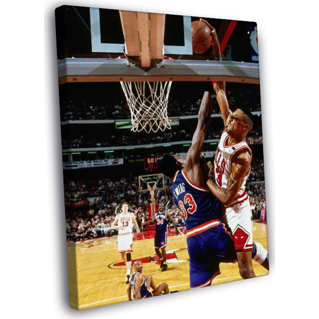 Scottie Pippen (Chicago Bulls> Slam Dunk On Patrick Ewing (New York Knicks) IN YOUR FACE