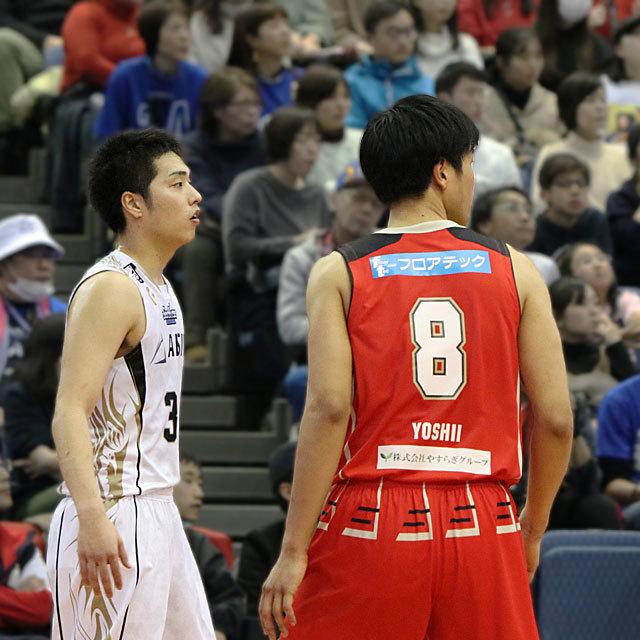 B.League SeaHorses Mikawa #30 Yuta Okada vs Osaka Evessa #8 Hirotaka Yoshii