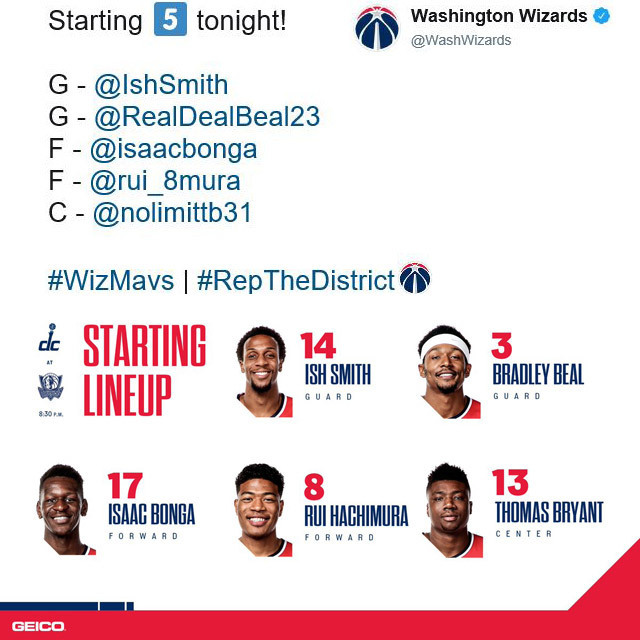 Washington Wizards @WashWizards