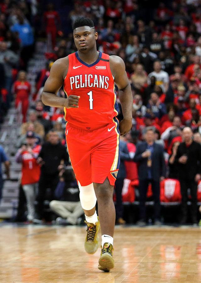 ニューオリンズ・ペリカンズ #0 ザイオン・ウィリアムソン NBA デビュー戦 エアジョーダン34 バイユー ボーイズ